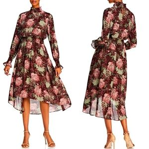 Nanette Lepore Floral Smocked High/low Dress